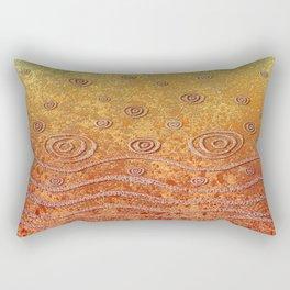 Ripples and Rain, Pond Rectangular Pillow