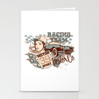 racing Stationery Cards featuring Racing Team by Tshirt-Factory