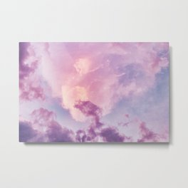 Purple Clouds Sunset (Color) Metal Print