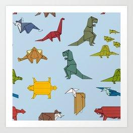 Dinogami Art Print
