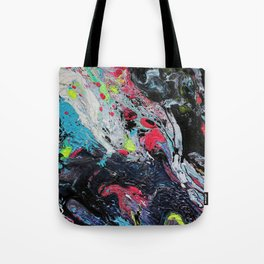 Colorful Abstract Fluid Acrylic Painting 2 Tote Bag