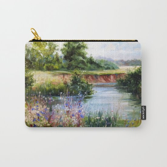 Summer day by the river Carry-All Pouch