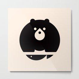 Bear & Fish Metal Print
