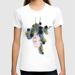 no. 488. A penny for your thoughts, Modern abstract portrait. T-shirt