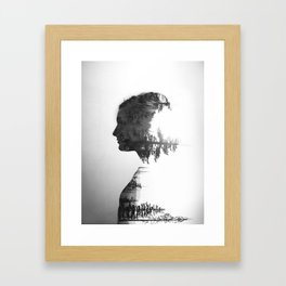 Treeline Portrait Framed Art Print