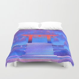 Tengami - Red Gate Duvet Cover