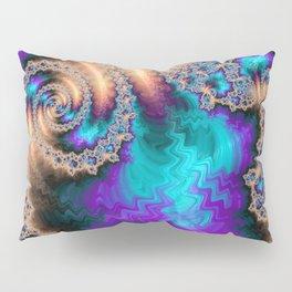 Electric Ocean - Fractal Art Pillow Sham