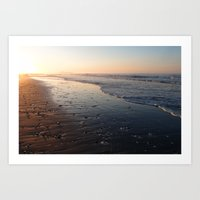Morning Beach Walk Art Print