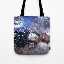 Amidst the blossoms Tote Bag
