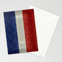 French Flag with vintage textures Stationery Cards