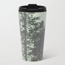 Trees in Fog Travel Mug