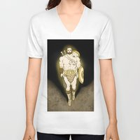 hercules V-neck T-shirts featuring Hercules by wyguy5