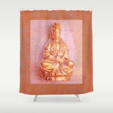 Rose-Bronze Kwan Yin Shower Curtain