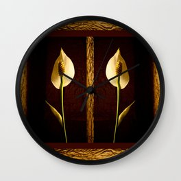 Peace in the Shadows Wall Clock