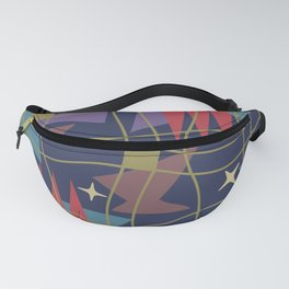 Mid Century Modern Abstract Pattern 582 Fanny Pack