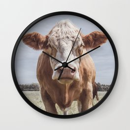 Animal Photography | Cow Portrait Photography | Farm animals Wall Clock
