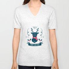 Deer Christmas Unisex V-Neck