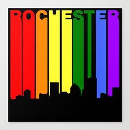 Rochester New York Gay Pride Rainbow Skyline Canvas Print