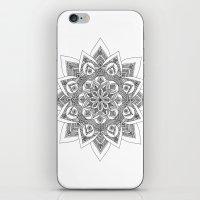 sandra dieckmann iPhone & iPod Skins featuring Sandra Mandala by Frida Glans