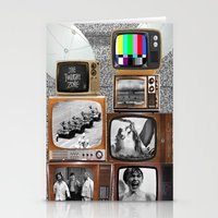 tv Stationery Cards featuring Television by Logan Amick