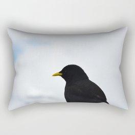 Pájaro Negro en Gornergrat Rectangular Pillow