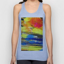 Art Abstraction 1A by Kathy Morton Stanion Unisex Tank Top