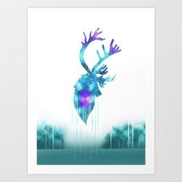 Raindeer Games Art Print