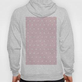 Polka dot dance on pink - White dots pattern Hoody
