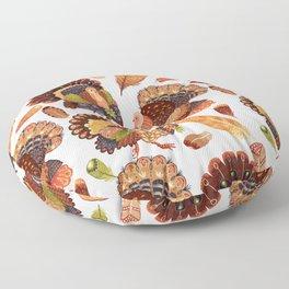 Turkey Gobblers Floor Pillow