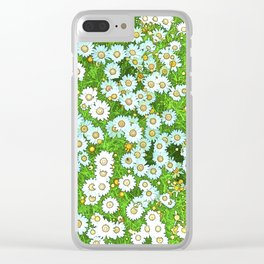 Daisies Painting Clear iPhone Case