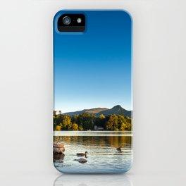 Ducks on Lake Derewentwater near Keswick, England iPhone Case