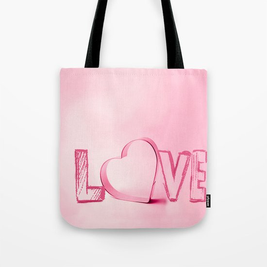 Love's Heart - Pink Tote Bag
