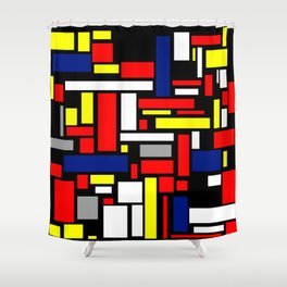 Colored rectangles Shower Curtain