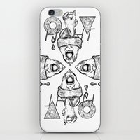 fight iPhone & iPod Skins featuring Fight by Benson Koo