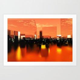Q-City Zero Art Print