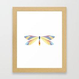 Colorful Dragonfly Framed Art Print