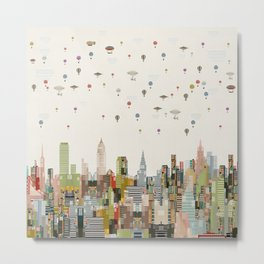 the great wondrous balloon race Metal Print