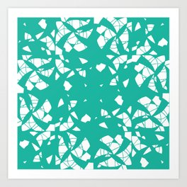 Spiral-Teal Art Print