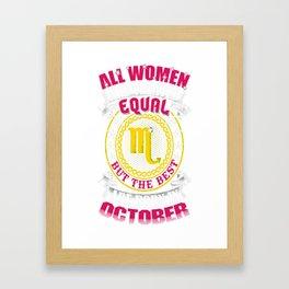 Best-Women-Born-In-October-Scorpio---Sao-chép Framed Art Print