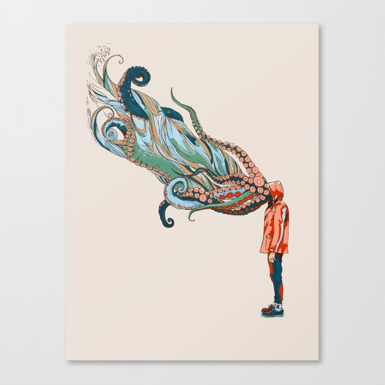 Octopus in me Canvas Print