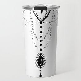 Flowing Mandala Chandelier Drawing Travel Mug