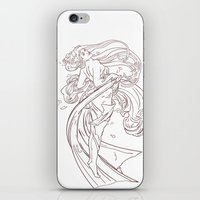 mucha iPhone & iPod Skins featuring Mucha Inspired by Jon Cain
