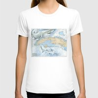 cuba T-shirts featuring Cuba Sharks by Carly Mejeur