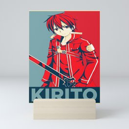 Kirito Sao Propaganda Mini Art Print