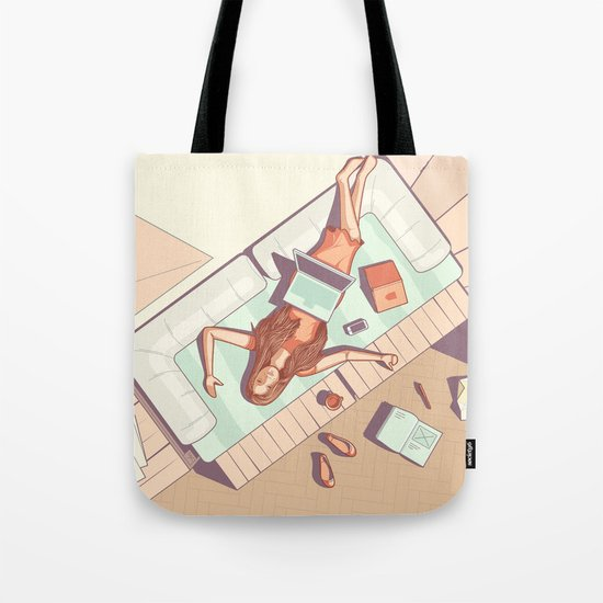 Waiting for inspiration Tote Bag