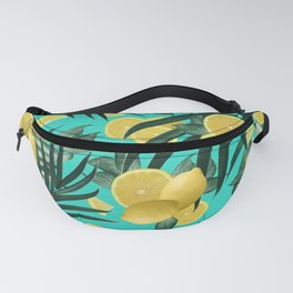 Summer Lemon Twist Jungle #1 #tropical #decor #art #society6 Fanny Pack