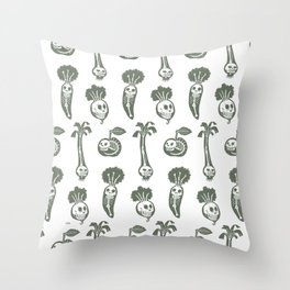 X-rays vegetables (white background) Throw Pillow