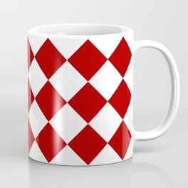 Red and white square pattern Coffee Mug