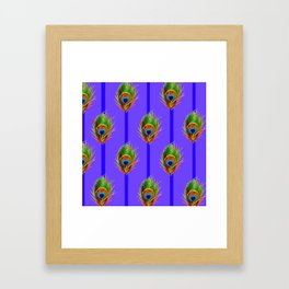 Decorative Contemporary  Peacock Feathers Art Framed Art Print