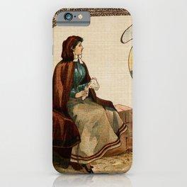 Mechelen lace making litho ca 1900 iPhone Case